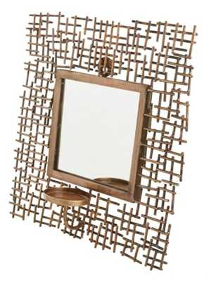 Madison Park Costa Mirrored Wall Scone Candle Holder in Bronze - Bed Bath & Beyond