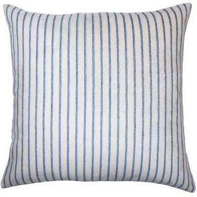 "Maaike Striped Pillow Blue - 18"" x 18"" - insert - Linen & Seam"