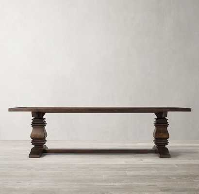 "SALVAGED WOOD TRESTLE RECTANGULAR EXTENSION DINING TABLE 72"" Salvaged Coffee - RH"