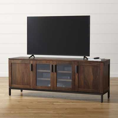 "Wyatt Bourbon 72"" Media Console - Grey Wash - Crate and Barrel"