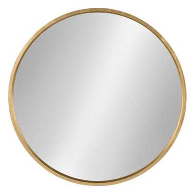 Medium Round Gold Contemporary Mirror (25.6 in. H x 25.6 in. W) - Home Depot