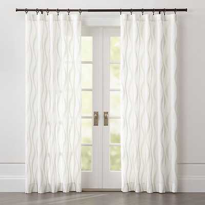 """Elester Ivory Sheer Curtain Panel 50""""x84"""" - Crate and Barrel"""