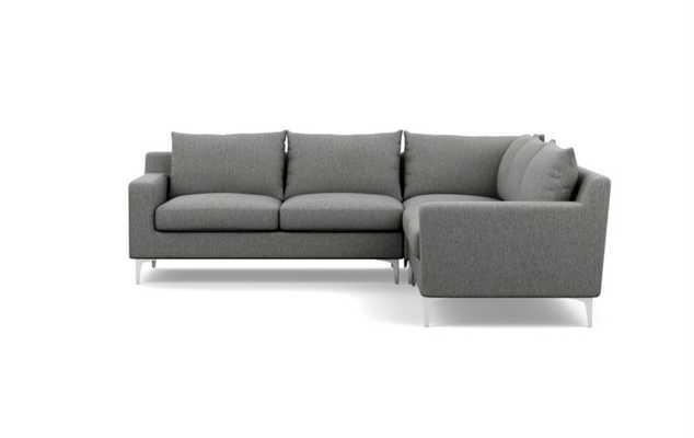 "SLOAN Corner Sectional Sofa -  97"" - Plow - Cross Weave - Interior Define"
