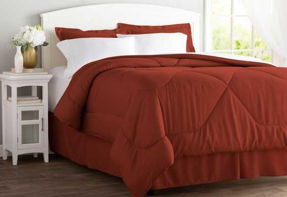 Wayfair Basics 6 Piece Bed in a Bag Set - Twin Brick - Wayfair