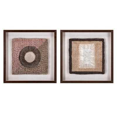 Zaya Paper Art in Shadowbox - Ast 2 - Mercer Collection
