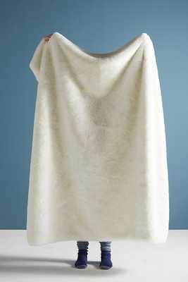 Fireside Faux Fur Throw Blanket - Anthropologie