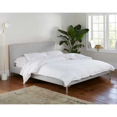 Landy Linen Upholstered Platform Bed-Zuma White - Wayfair