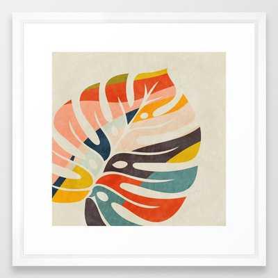 "shape leave modern mid century Framed Art Print, 22"" x 22"" - Society6"
