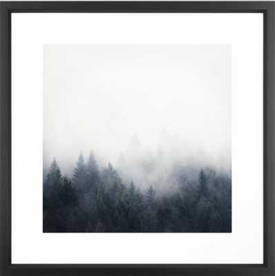 """I Don't Give A Fog Framed Art Print, Vector Black, 22"""" X 22"""" - Society6"""