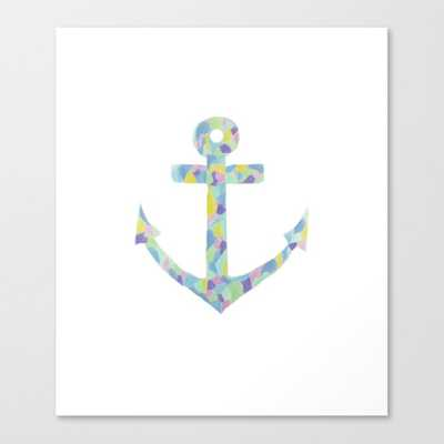 "Colorful Anchor Canvas Print // 13"" x 15"" - Society6"