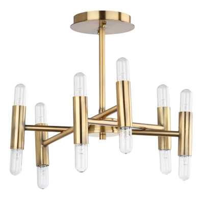 "Mottla 12 - Light 16"" Sputnik Modern Linear Semi Flush Mount - AllModern"