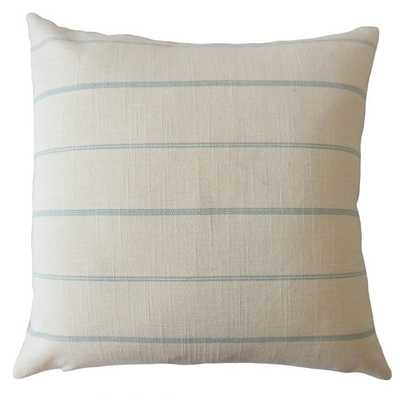 "ZARED STRIPED THROW PILLOW IVORY 20"" with down insert - Linen & Seam"