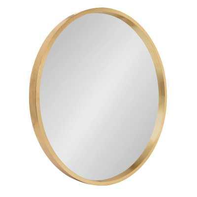 "21.6"" x 21.6"" Gold Swagger Modern & Contemporary Accent Mirror - Wayfair"
