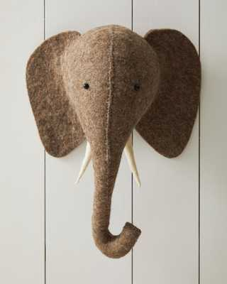 Felted Wool Wall Animal – Elephant - Serena and Lily