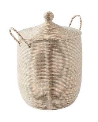 Solid La Jolla Large Basket - White - Serena and Lily