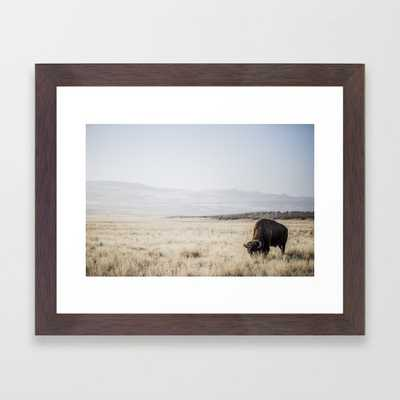 Bison stance Framed Art Print 653 by Garrett Lockhart - Society6