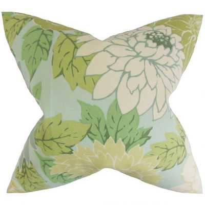 """DELANEY Floral pillow with Down Insert - 22 x 22"""" - Linen & Seam"""