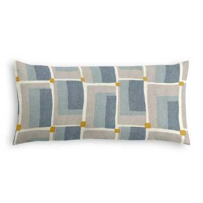 Lumbar Pillow -  Aldo Geo - Aquatint - Loom Decor