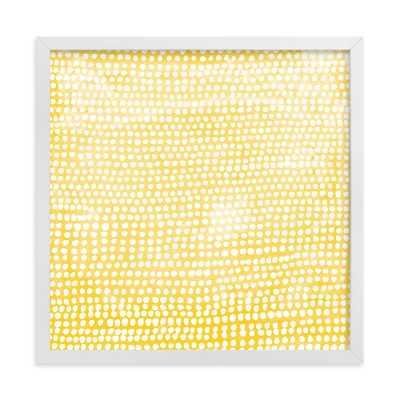 Dance - Sunshine - 11x11 - white wood frame - Minted