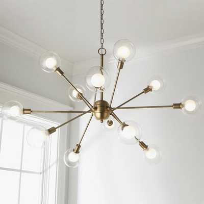 ILLUMINATED BURST CHANDELIER - 12 LIGHT - Shades of Light