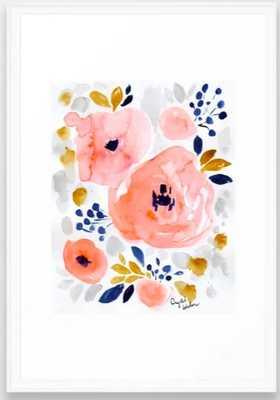 Genevieve Floral Art Print - Crystalwalen Framed - Society6