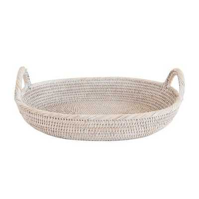 OVAL LIGHT RATTAN TRAY - McGee & Co.