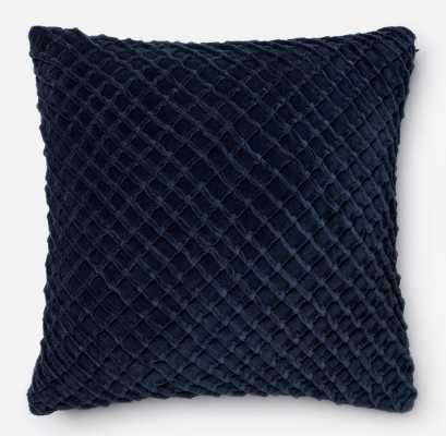 Guarascio 100% Cotton Pillow Cover - Navy - Wayfair