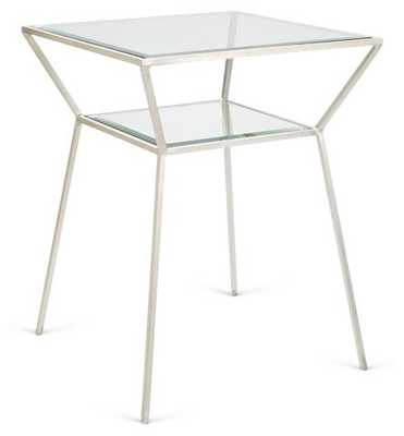 Wilford Side Table, Silver - One Kings Lane
