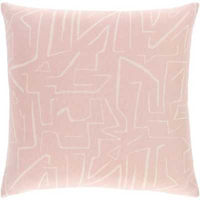 "Regina Pillow, 20""x20"", Pale Pink - Studio Marcette"
