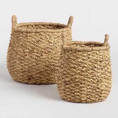 Hyacinth Margaux Tote Basket -Large - World Market/Cost Plus