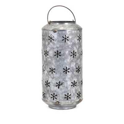 Homestead Christmas Large Metal Snowflake Lantern - Mercer Collection