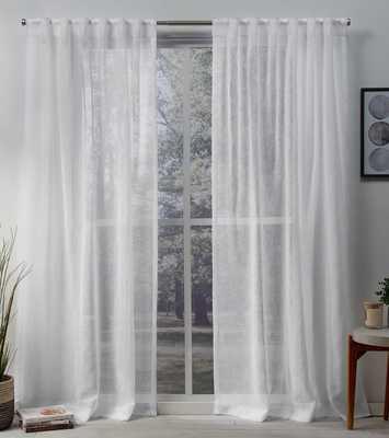 Mirfield Solid Color Sheer Tab Top Curtain Panel - Set of 2 - Wayfair