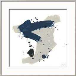 Kanji V Art Print, Rhonda Silver Frame - art.com