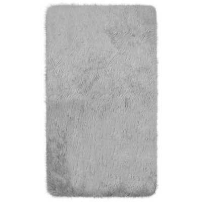 Ophir Faux-Fur Gray Area Rug - Wayfair