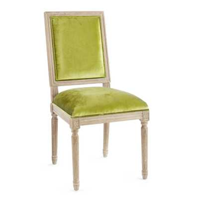 CHATEAU FABRIC BACK SIDE CHAIR, Velvet Peridot - Wisteria