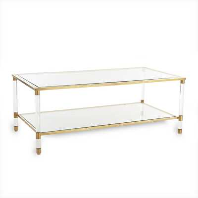 ACRYLIC, GLASS AND BRASS COFFEE TABLE - Wisteria