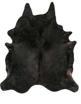 Black and Dark Brown Hide Rug - Neva Home