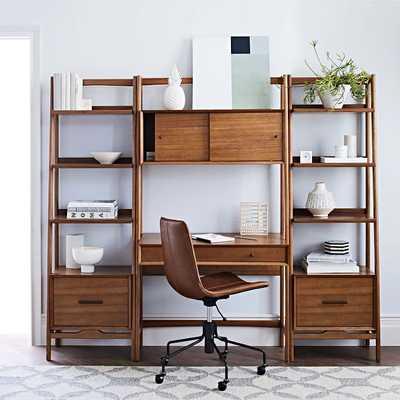 Mid-Century Wall Desk & Shelf Set - Narrow - West Elm