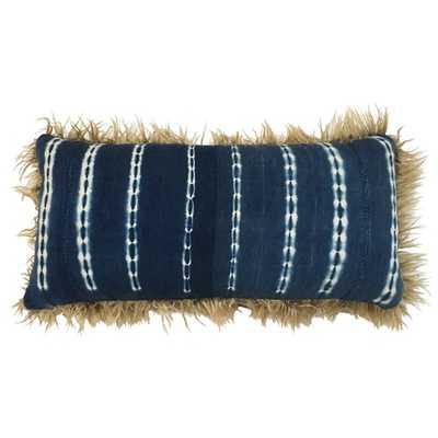 Taliba Indigo Mudcloth - Lumbar pillow - Lulu and Georgia