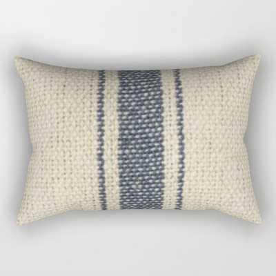 Vintage French Farmhouse Grain Sack Rectangular Pillow - Society6