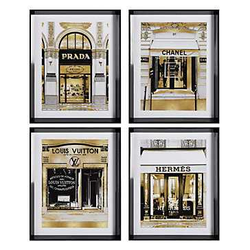 Fashion Storefronts - Set of 4 - Z Gallerie