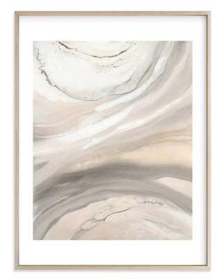 "Warm Sunlit Sand - 30""x40"" - White Border - Matte Brass Frame - Minted"