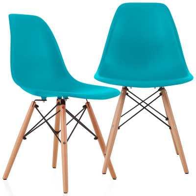 Aquarius Dining Chair (Set of 2) Teal BLue - Wayfair