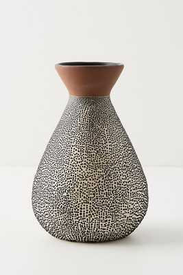 Spotted Ceramic Vase - Anthropologie