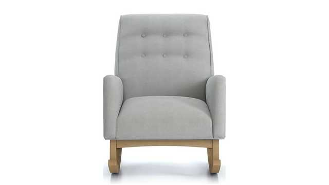 Everly Tufted Rocking Chair - Crate and Barrel