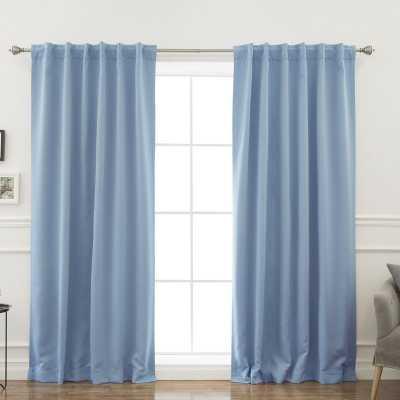 Sweetwater Room Darkening Solid Thermal Curtain Panels - Ocean Set of 2 - Wayfair