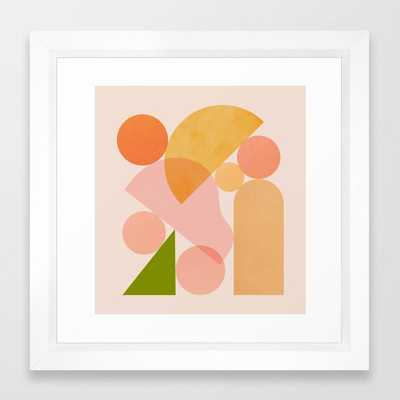Abstraction_SHAPES_COLOR_Minimalism_002 Framed Art Print by forgetme - Society6