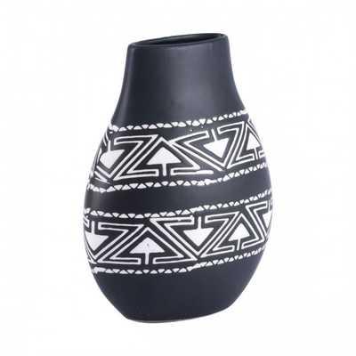 Kolla Small Vase Black & White - Zuri Studios