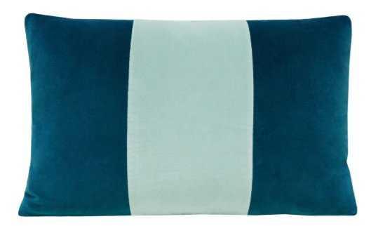 The Little Lumbar :: Signature Velvet // Baltic Blue + Sea Blue - Little Design Company