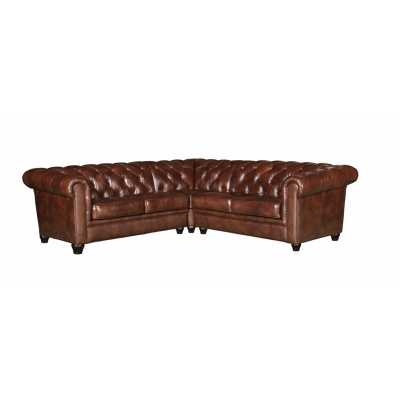 TUSCAN LEATHER SECTIONAL - Abbyson Living